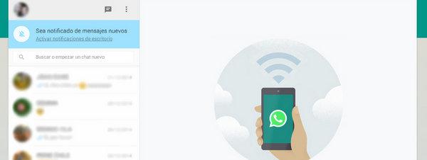 Whatsapp Web: imagen del servicio de la versión para ordenador de la app de mensajería instantánea más usada